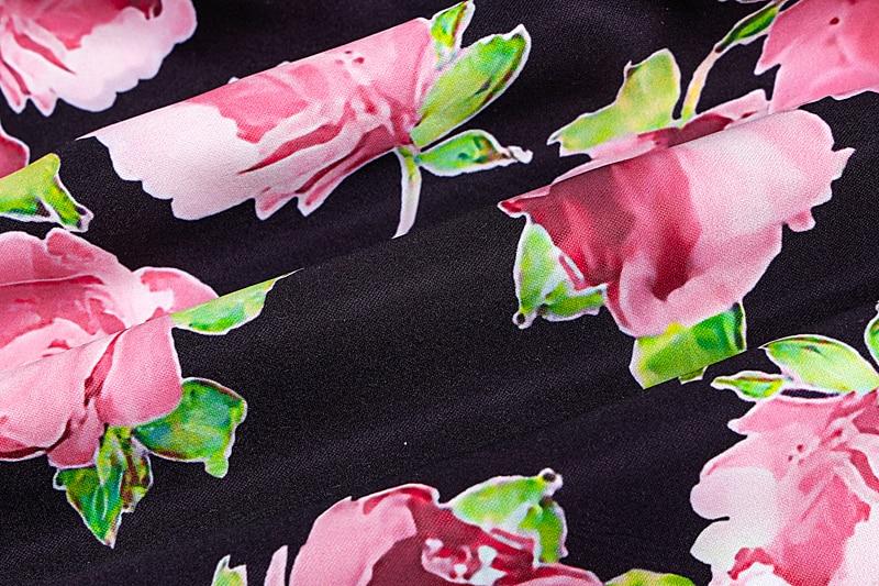 Women's Rose Printed Mini Dress