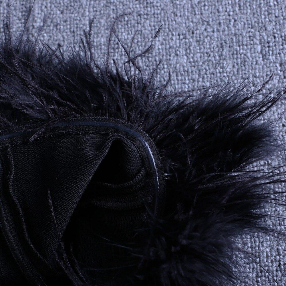 Women's Fur Trim Party Dress