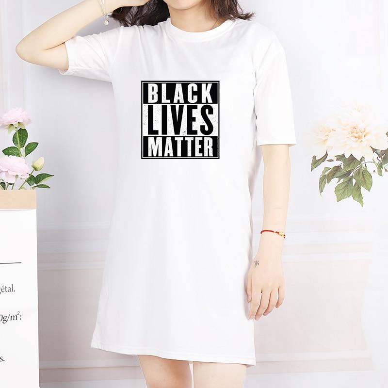 Women's Black Lives Matter Printed Loose Dress
